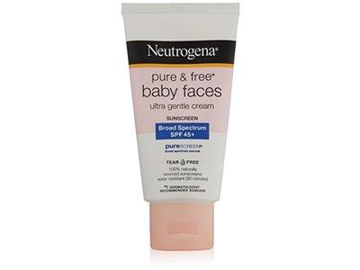 Neutrogena Pure & Free Baby Faces Ultra Gentle Cream Broad Spectrum 45+ Sunscreen - Image 1