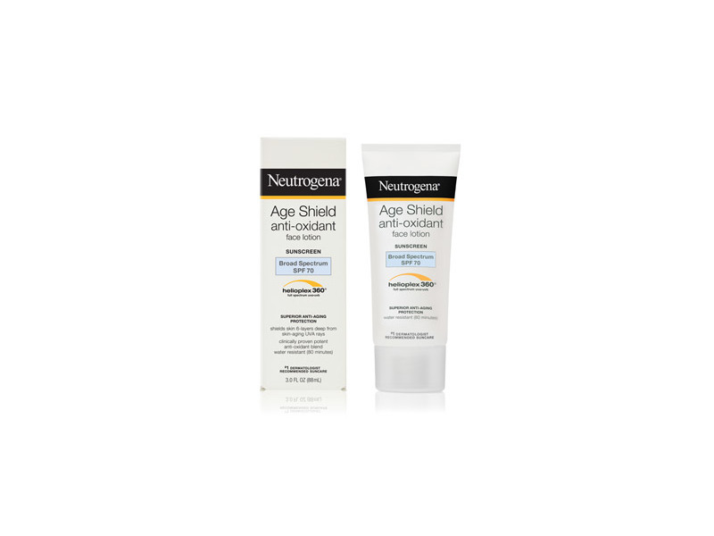 Neutrogena Age Shield Face Lotion Sunscreen Broad Spectrum SPF 70, Johnson & Johnson