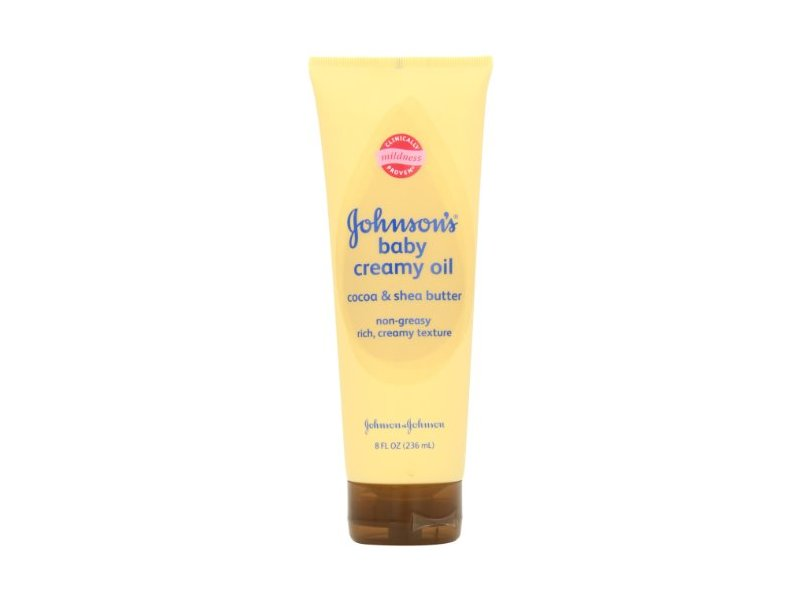 Johnson's Baby Creamy Oil, Cocoa and Shea Butter, 8 Ounce (Pack of 2)