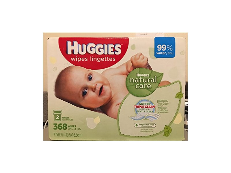 Huggies Natural Care Baby Wipes Lingerettes, 2 Packs, 368 Wipes