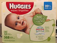 Huggies Natural Care Baby Wipes Lingerettes, 2 Packs, 368 Wipes - Image 2