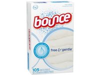 Bounce Fabric Softener Sheets, Free & Gentle, 105 count (9 per case) - Image 2