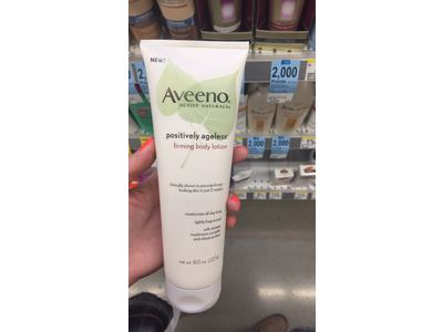 Aveeno Active Naturals Positively Ageless Firming Body Lotion, 8.0 oz - Image 3