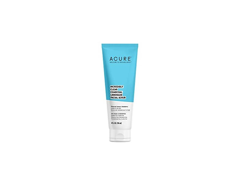 Acure Incredibly Clear Charcoal Lemonade Facial Scrub, 1 fl oz