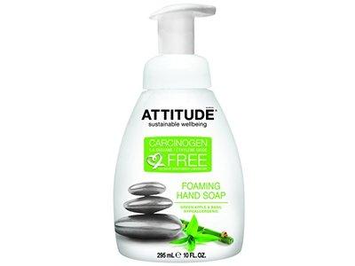 ATTITUDE Foaming Hand Soap, Green Apple and Basil, 10 Fluid Ounce