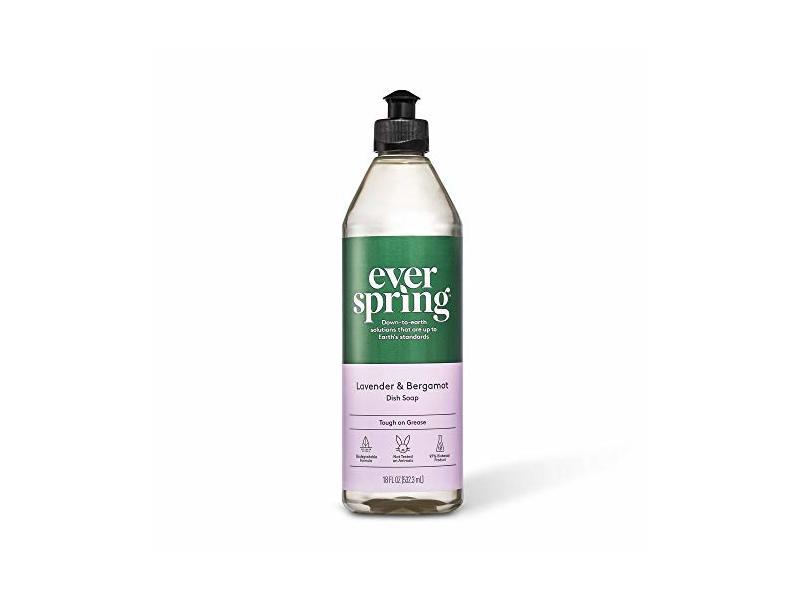 Everspring Lavender & Bergamot Dish Soap, 18 fl oz/523.3 mL