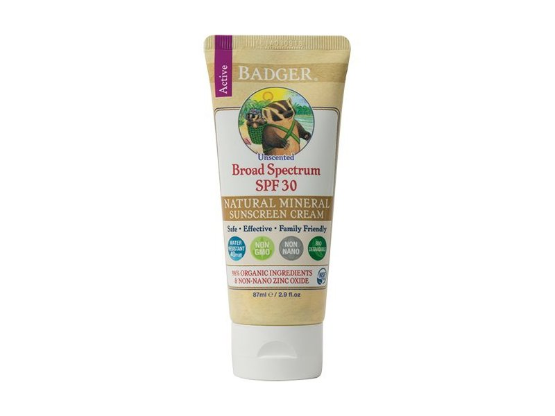 Badger Balms Sunscreen Cream, SPF 30, 87ml
