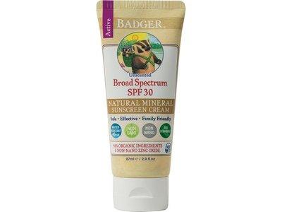 Badger Balms Sunscreen Cream, SPF 30, 87ml
