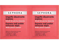 Sephora Collection Express Nail Polish Remover Wipes, White Peach Extract, 20 wipes - Image 1