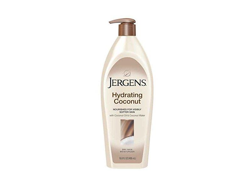 Jergens Hydrating Coconut Moisturizer, Dry Skin, 16.8 fl oz / 496 mL