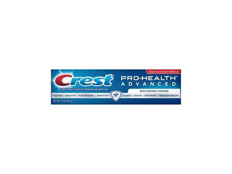 Crest Pro-Health Advanced Toothpaste, Whitening Power, 5.1 oz