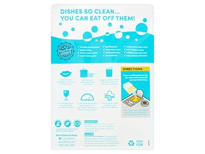 Lemi Shine Dishwashing Detergent, 25 Pacs Ingredients and