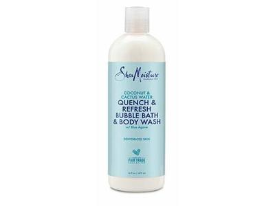 SheaMoisture Coconut & Cactus Water Quench & Refresh Bubble Bath & Body Wash 16 oz
