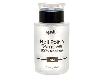 Epielle Nail Polish Remover 100% Acetone, Pump, 6 fl oz