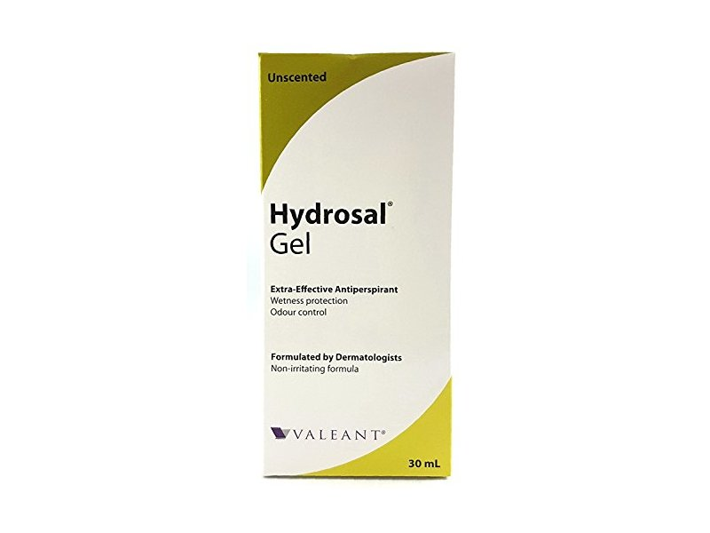 Hydrosal Professional Antiperspirant Gel, Unscented, 30 mL