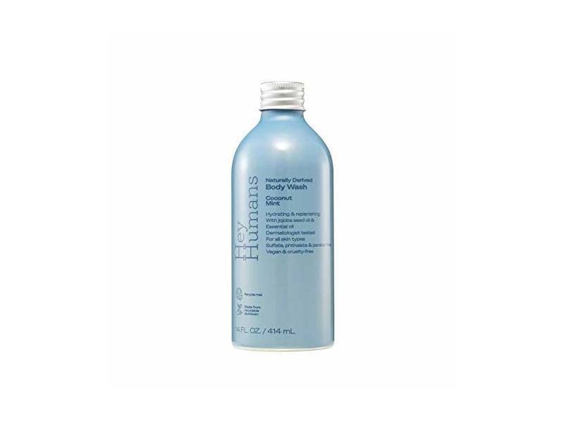 Hey Humans Naturally Derived Body Wash, Coconut Mint, 14 fl oz/414 mL