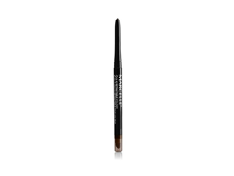 Marcelle 2-in-1 Retractable Eyeliner, Brown, Hypoallergenic and Fragrance-Free, 0.01 oz