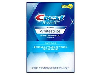 Crest 3D White Classic Vivid Whitestrips Dental Whitening Kit, 20 Count