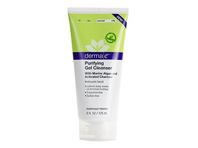 derma e Purifying Gel Cleanser With Marine Algae and Activated Charcoal, 6 oz - Image 1