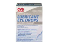 CVS Health Advanced Relief Enhanced Lubricant Eye Drops, Preservative Free, 30 ct - Image 2