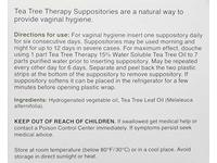 Tea Tree Therapy - Suppository with Tea Tree Oil For Vaginal Hygiene (2-Pack of 6) - Image 5