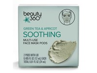 Beauty 360 Green Tea & Apricot Soothing Multi-Use Face Mask Pods - Image 2