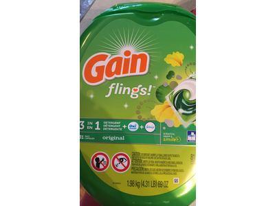Gain Flings Original Laundry Detergent Pacs, 81 Count - Image 5