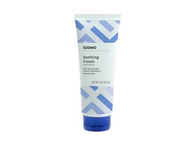Solimo Soothing Cream Moisturizer with Oat, Fragrance Free, 8 Ounce