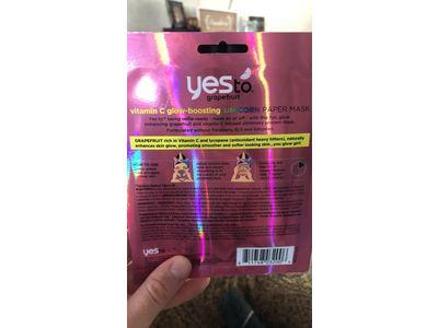 Yes To Grapefruit Vitamin C Glow-Boosting Unicorn Paper Mask - Single Use - Image 4