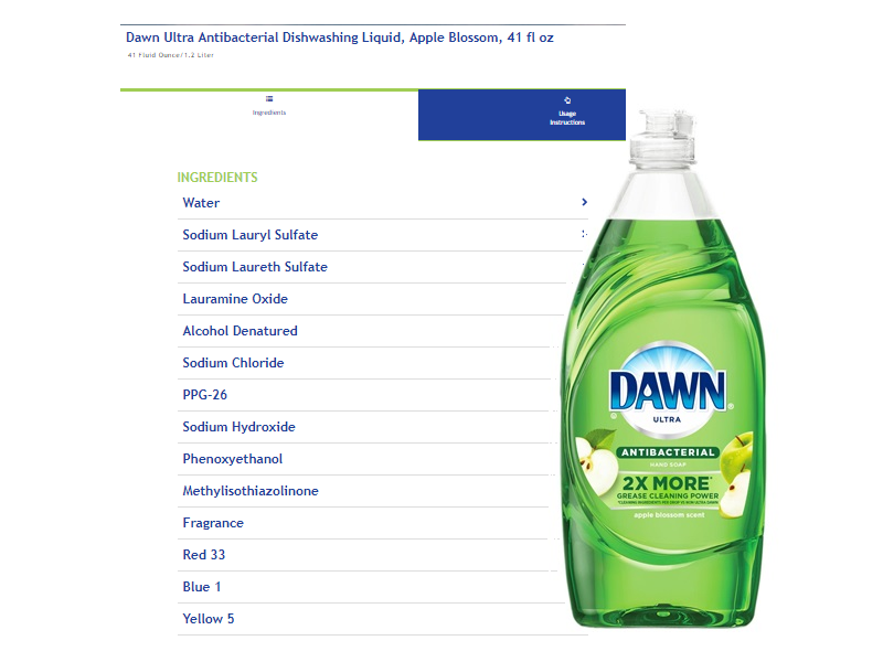 Dawn Ultra Antibacterial Hand Soap/Dishwashing Liquid, Apple Blossom, 40 fl oz