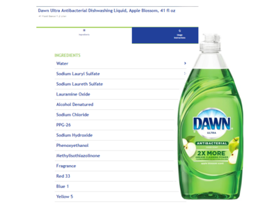 Dawn Ultra Antibacterial Hand Soap/Dishwashing Liquid, Apple Blossom, 40 fl oz - Image 1
