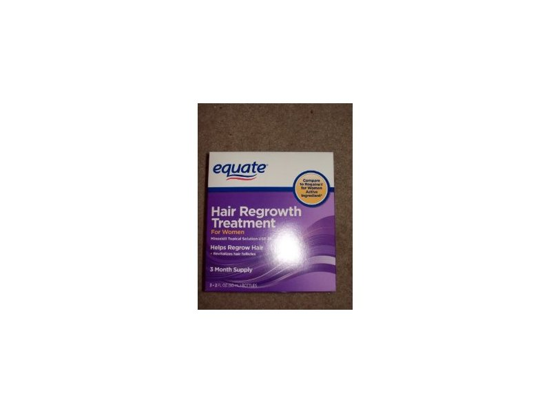 Equate Hair Regrowth Treatment for Women with Minoxidil 2%, 2 oz