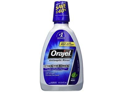Orajel Antiseptic Mouth Sore Rinse, 16 oz