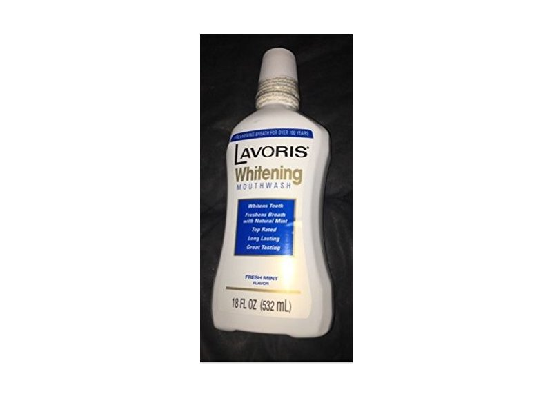 Lavoris Whitening Mouthwash, Fresh Mint Flavor, 18 fl oz