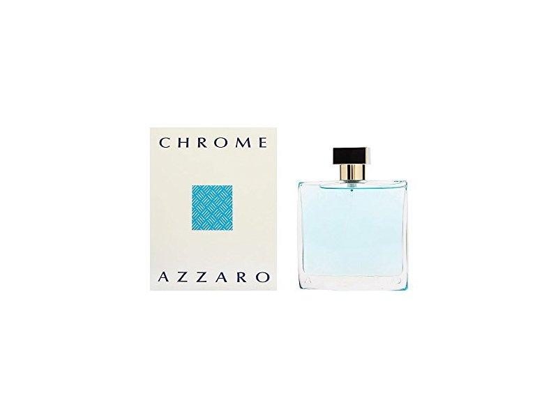 Azzaro Chrome Mens Eau de Toilette Spray, 3.4 oz