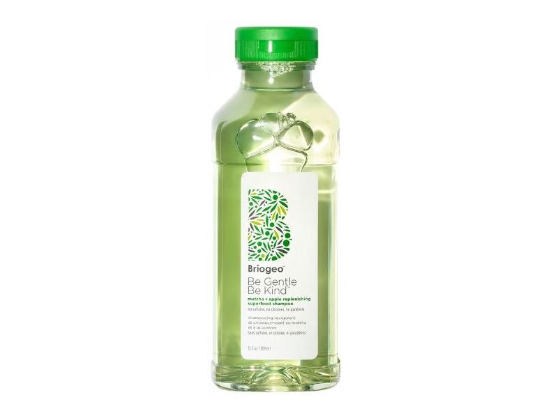 Briogeo Be Gentle, Be Kind Replenishing Superfood Shampoo, Matcha + Apple, 12.5 fl oz