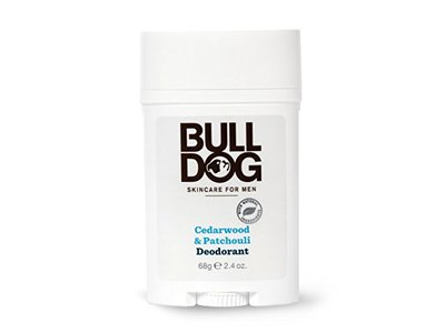 Bulldog Mens Skincare and Grooming Cedarwood Patchouli Deodorant, 2.4 Ounce