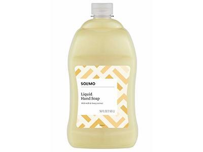 Solimo Liquid Hand Soap Refill, Milk and Honey Scent, 56 fl oz