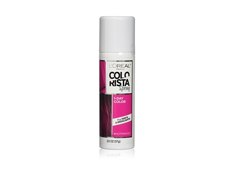 L'Oreal Paris Hair Color Colorista 1-Day Color, #Hotpink100, 2.0 oz
