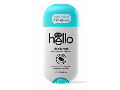 Hello Activated Charcoal Clean + Fresh Deodorant for Women + Men, 2.6 oz