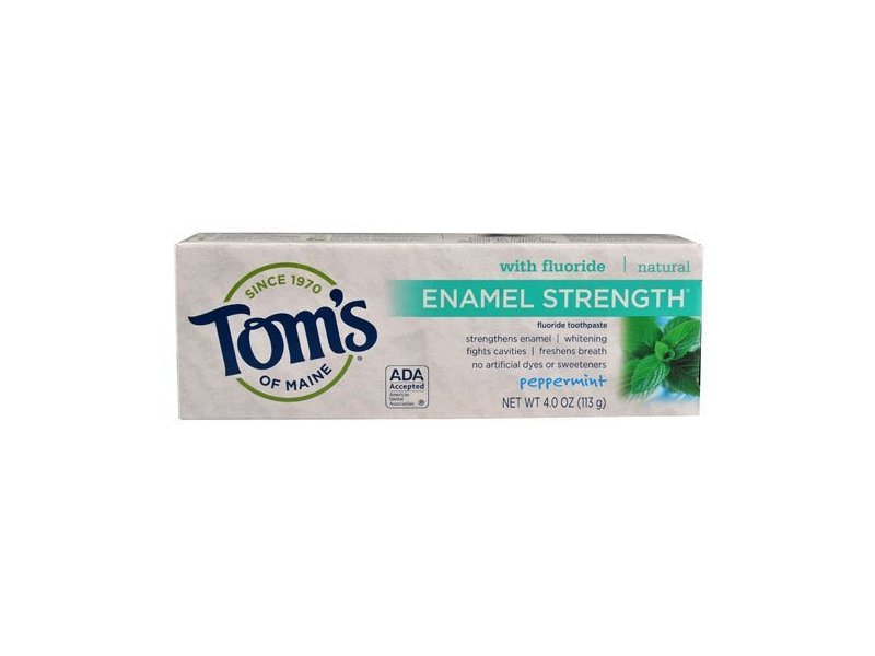 Tom's of Maine Enamel Strength Fluoride Toothpaste, Peppermint, 4 oz