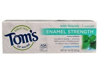Tom's of Maine Enamel Strength Fluoride Toothpaste, Peppermint, 4 oz - Image 2