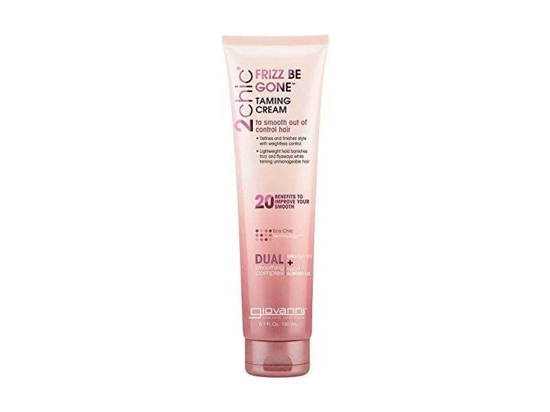 Giovanni 2chic Frizz Be Gone Shea Butter & Sweet Almond Oil Taming Cream, 5.1 Ounce