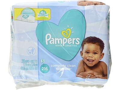 Pampers Baby Wipes, Complete Clean, 216 ct
