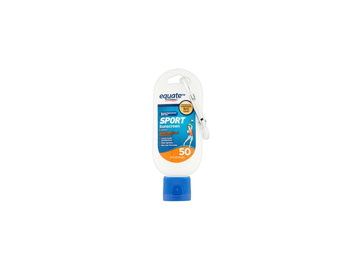 Equate Sport Sunscreen Lotion Spf 50 1 5 Fl Oz