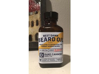 Duke Cannon Best Damn Beard Oil, Redwood, 3 Ounce - Image 5