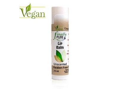 Finally Pure Vegan Lip Balm, Unscented, 0.15 oz