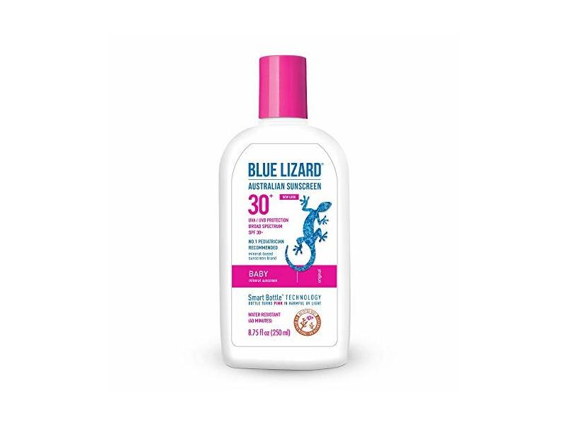 Blue Lizard Baby Mineral Sunscreen, SPF 30+ UVA/UVB Protection, 8.75 oz