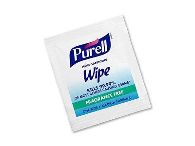 Purell Hand Sanitizing Wipe, Fragrance Free, 1 Wipe