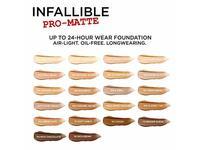 L'Oreal Paris Makeup Infallible Pro-Matte Liquid Longwear Foundation, Ivory Buff 101.5, 1 fl. oz. - Image 7